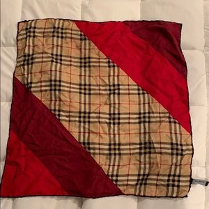 Authentic Burberry Vintage Check Silk Scarf